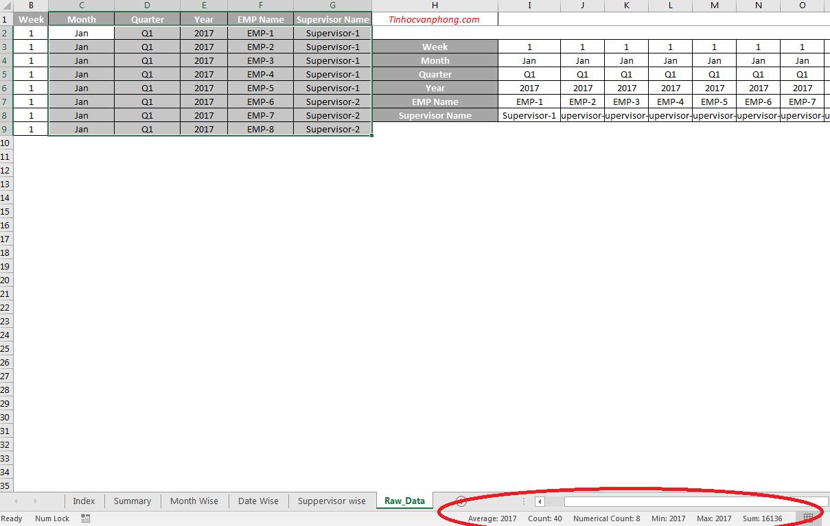 Các thủ thuật Excel cho dân văn phòng
