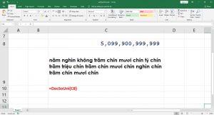 Chuyển đổi số thành chữ viết bằng Code VBA chỉ đơn giản với 2 bước thao tác