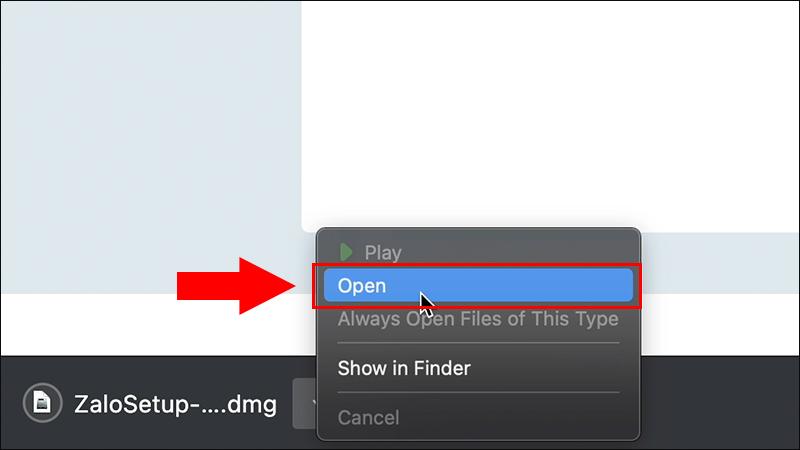 Mở file vừa tải xuống [Video] Cách tải và cài đặt Zalo cho Macbook cực đơn giản dễ thực hiện
