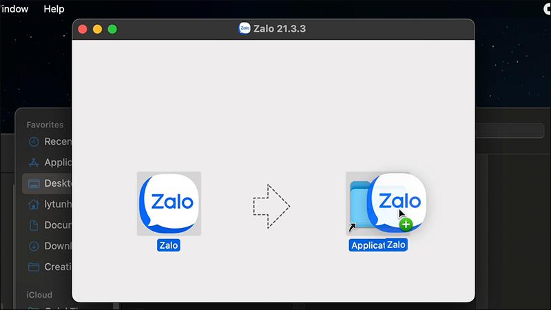 Kéo ứng dụng vào Applications [Video] Cách tải và cài đặt Zalo cho Macbook cực đơn giản dễ thực hiện