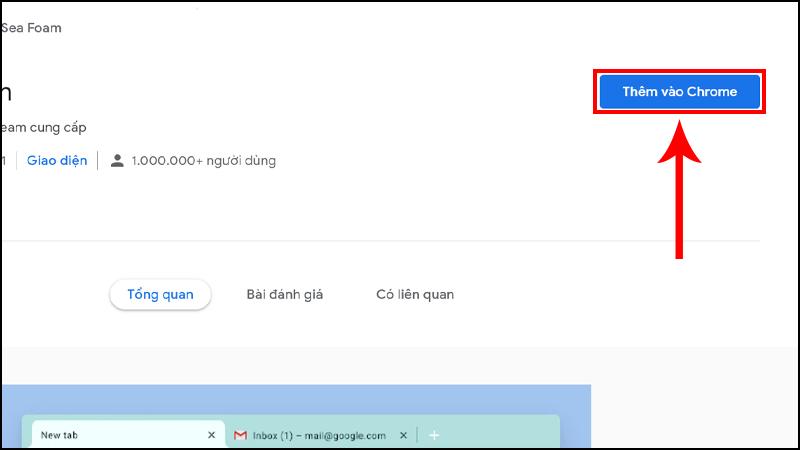Click chọn theme bất kỳ bạn sẽ được điều hướng đến trang mới, tại đây nhấn Thêm vào Chrome
