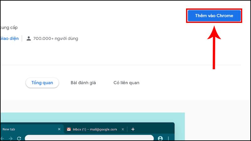 Click chọn nền bạn yêu thích và bạn sẽ được điều hướng đến trang mới, tại đây nhấn Thêm vào Chrome