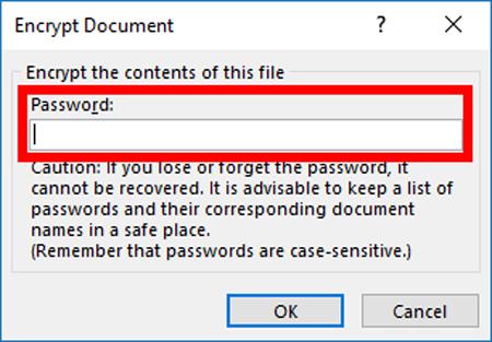 Xóa mật khẩu trong file