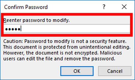 Cài mật khẩu trong file