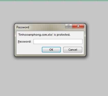 Cách đặt mật khẩu cho file excel