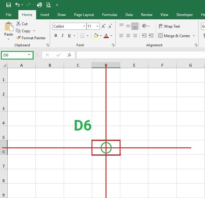 dia-chi-o-d6-trong-exxcel-2019Bài 05: Tìm hiểu về ô và dải ô trong Excel 2019