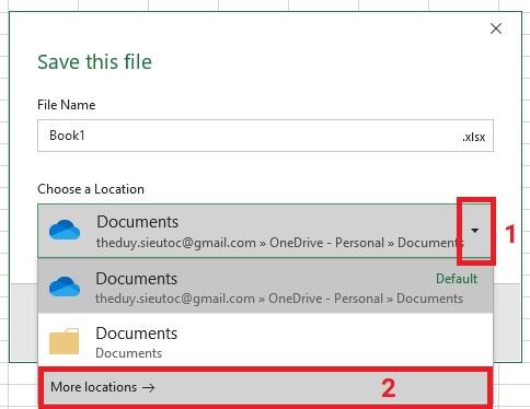luu-file-excel-2019-buoc-2Bài 04: Lưu, xuất file PDF và chia sẻ bảng tính trong Excel 2019