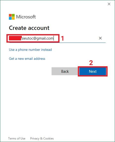 tao-tai-khoan-Microsoft-OneDrive-buoc-3Bài 02: Sử dụng OneDrive trong Excel 2019