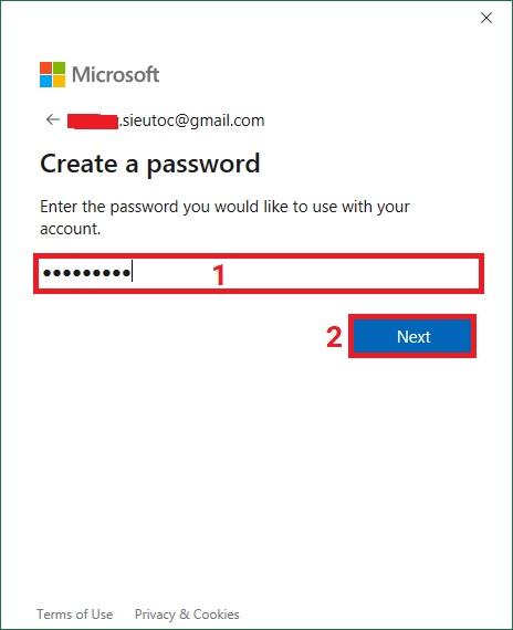 tao-tai-khoan-Microsoft-OneDrive-buoc-4Bài 02: Sử dụng OneDrive trong Excel 2019