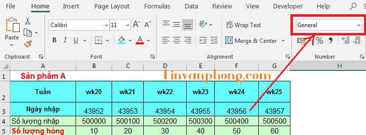 Cách dùng format number trong excel