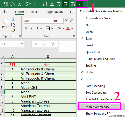 Cách gạch ngang chữ trong Excel