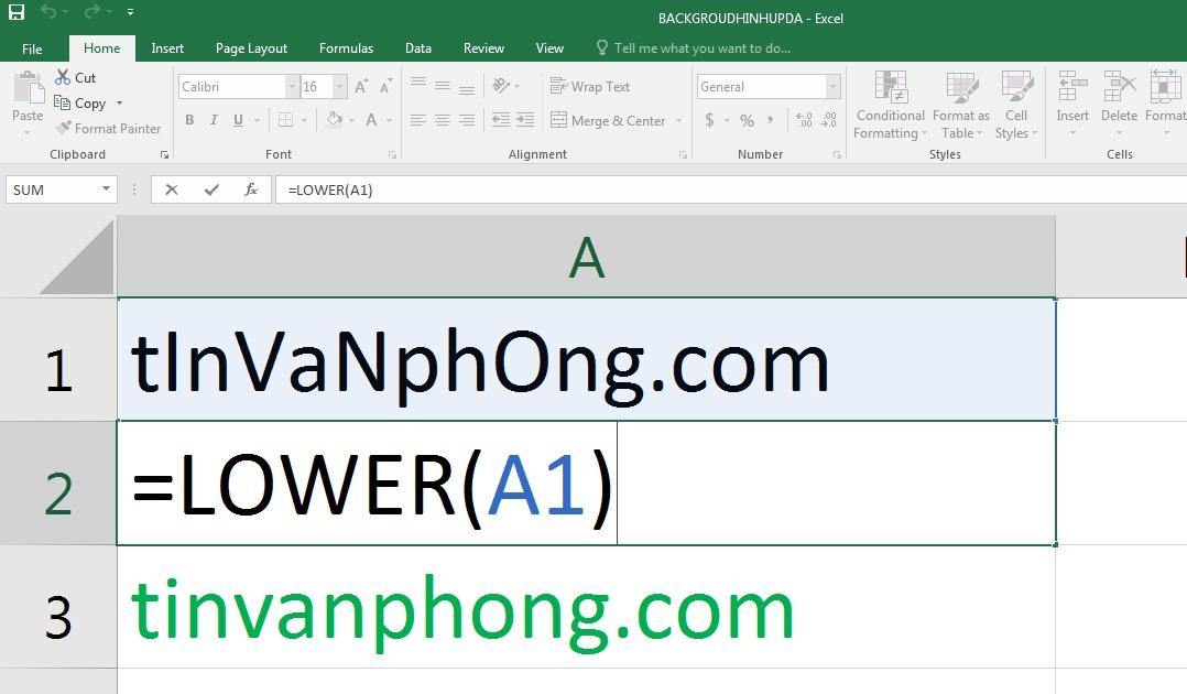 Cách dùng hàm UPPER LOWER PROPER trong EXCEL