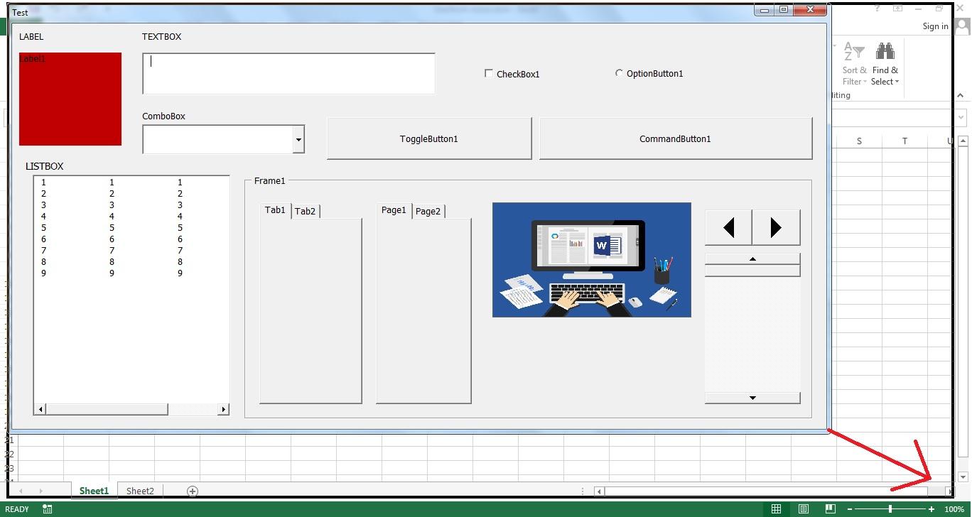 Tạo Userform resize with VBA or Windows API