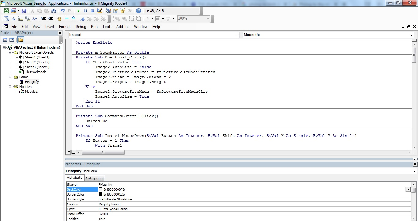 Zoom Picture Frame In Userform VBA EXCEL 2021