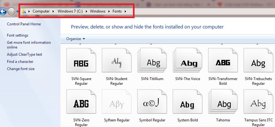 Hướng dẫn cách cài đặt font chữ cho máy tính