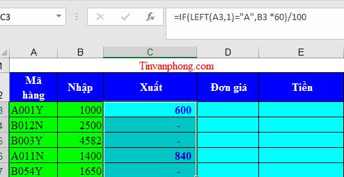 Cách sử dụng hàm Left Right trong Excel