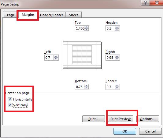Cách in Excel trên một trang giấy A4