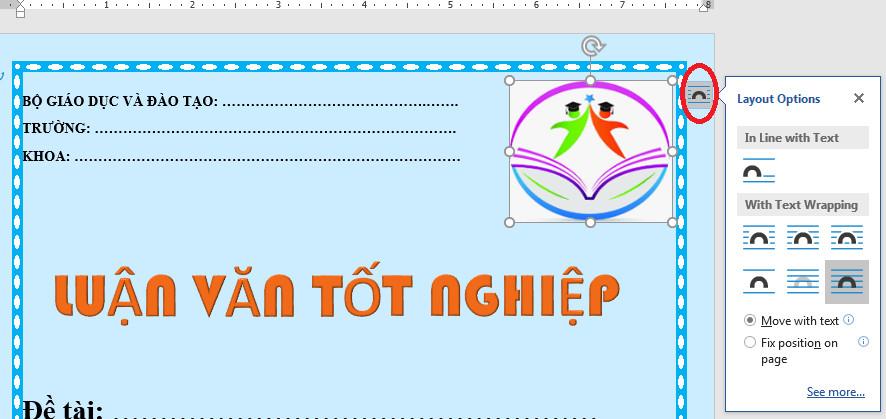 Cách làm trang bìa đẹp trong Word