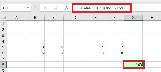 Hướng dẫn sử dụng hàm sumproduct