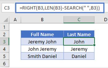 Cách sử dụng hàm search trong excel