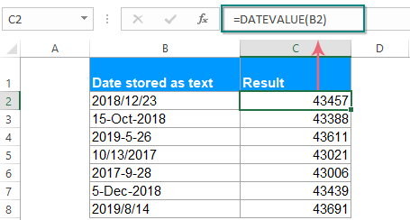Cách sử dụng hàm datevalue trong excel
