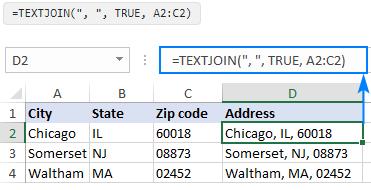 Cách sử dụng hàm textjoin trong excel