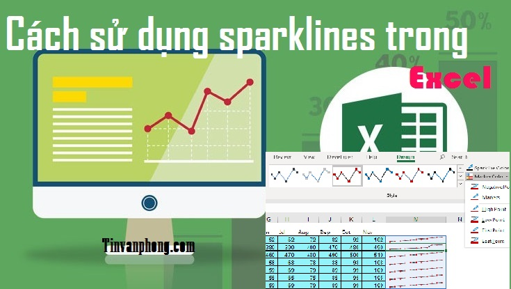Cach su dung sparklines trong