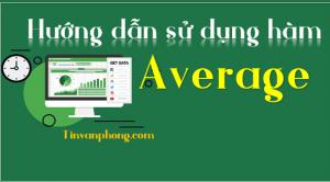 Huong dan su dung ham average