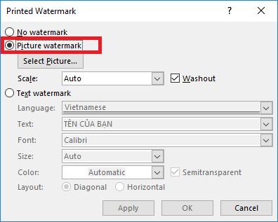 cach-tao-watermark-bang-anh-buoc-3 Watermark trong Word 2019