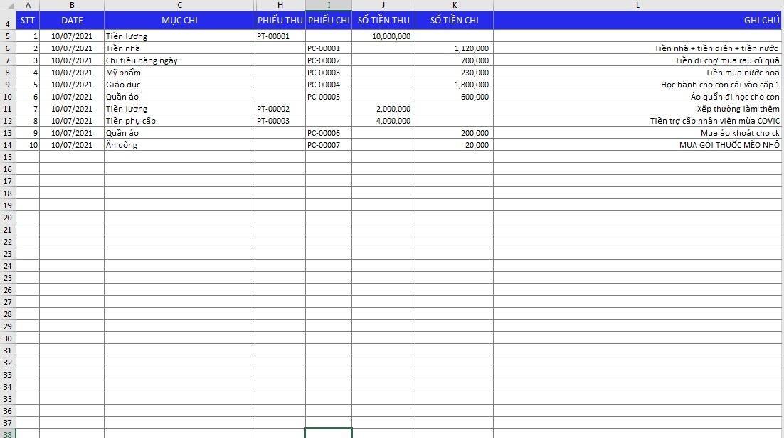 Phần mềm quản lý chi tiêu cá nhân miễn phí