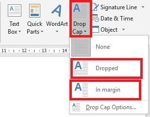 drop-cap-nhanh Chữ in hoa trong Word