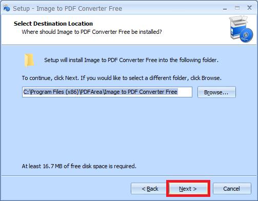 sử dụng phần mềm Image to PDF Converter Free