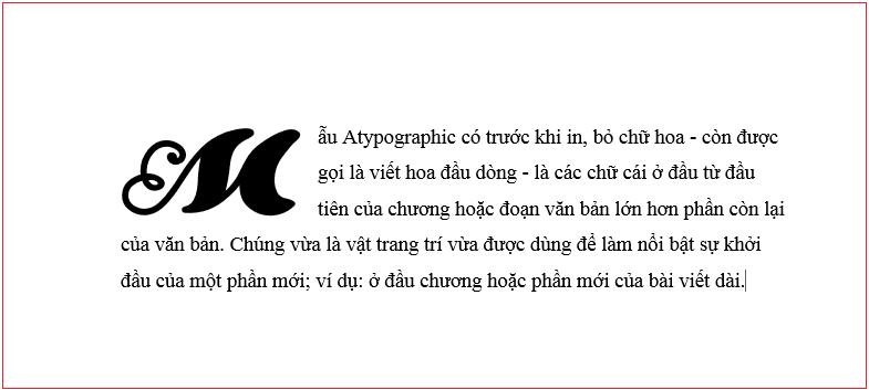 mau-drop-cap-gioi-thieu Chữ in hoa trong Word