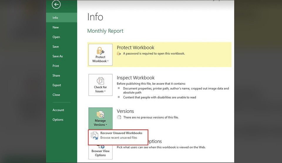 Sửa lỗi khi mở file Excel