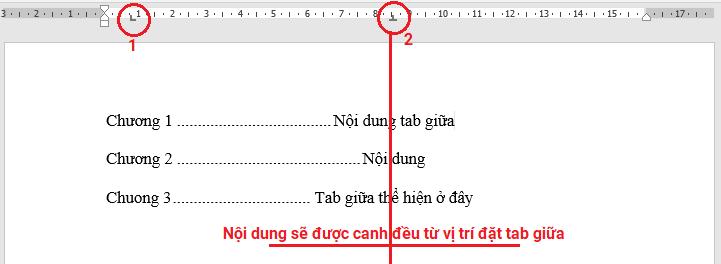 chi-tiet-tab-giua Định dạng Tab trong Word