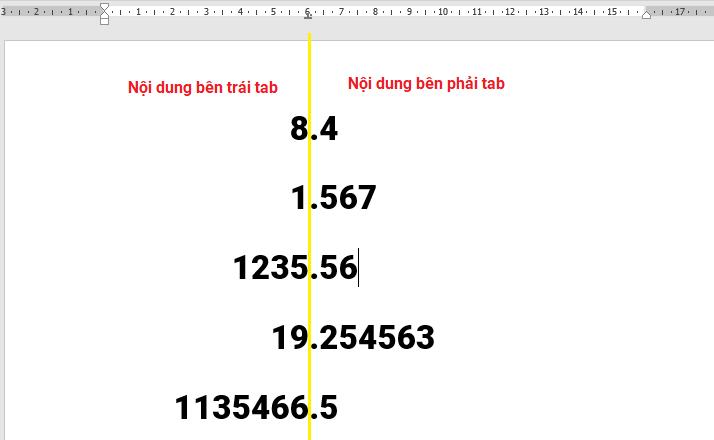 tab-thap-phan Định dạng Tab trong Word