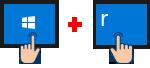 Phím Windows + R = Run