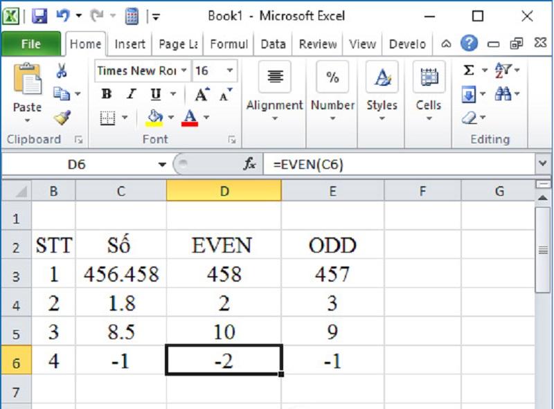 Hướng dẫn cách làm tròn số trong excel với các hàm đơn giản