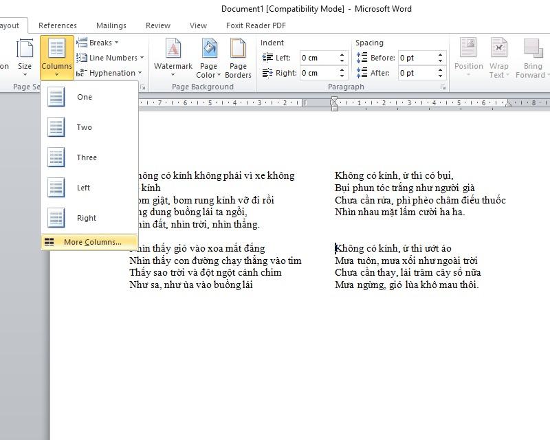 Hướng dẫn cách chia cột trong word đơn giản dễ hiểu